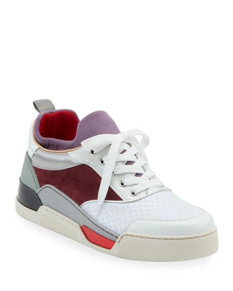 low priced 596fc f72cd Men's Aurelien Colorblock Mixed-Media Trainer Sneakers
