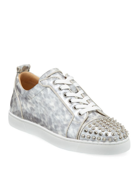 brand new d3e23 848a7 Men's Louis Junior Orlato Leather Sneakers with Spikes