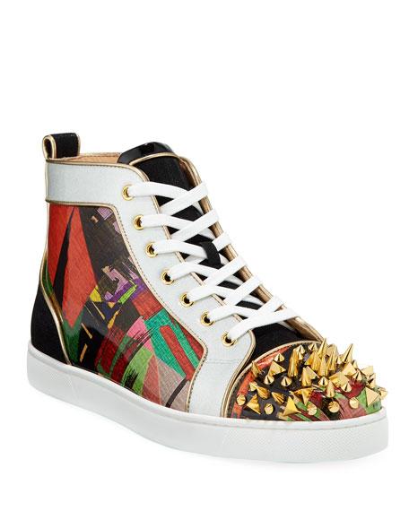 detailed look f4ffe 94b11 Men's Lou Pik Pik Orlato Multicolor Spiked Sneakers