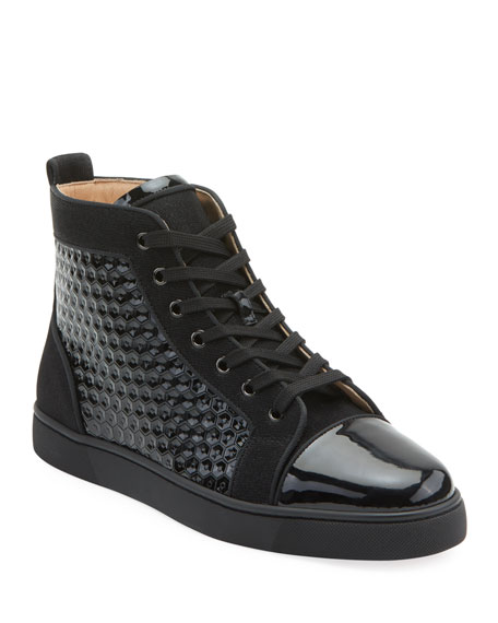 Men's Louis Orlato Textured Patent Leather Sneakers