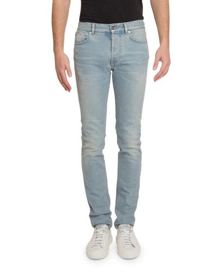 Men's Skinny-Fit Light-Wash Jeans