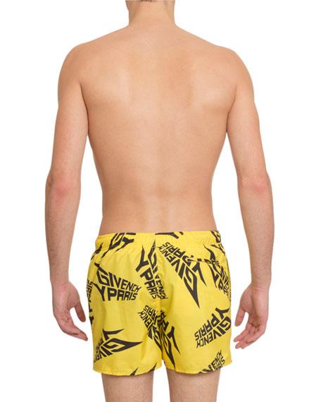 Men's Logo-Print Swim Trunks