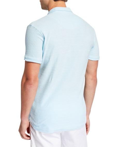 Men's Sebastian Toweling Solid Cotton Polo Shirt