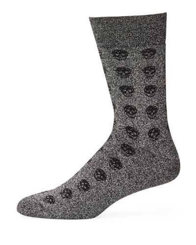 Men's Skull Patterned Heathered Socks