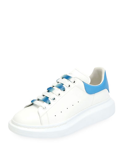 Men's Larry Colorblock Leather Sneakers with Ombre Laces