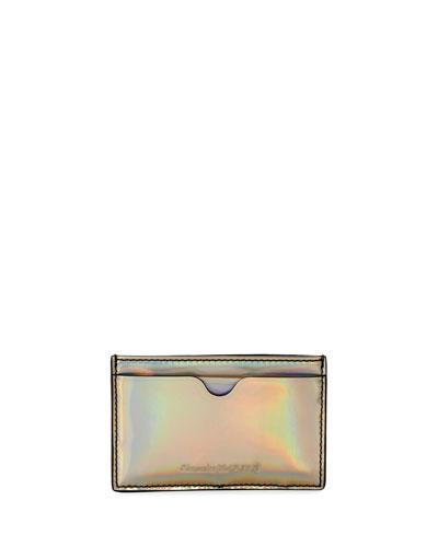 Men's Metallic Leather Card Case