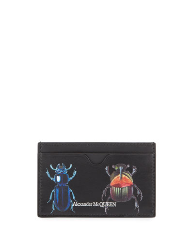 Men's Beetle Print Card Case