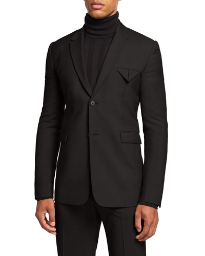 Men's Mohair 2-Button Jacket