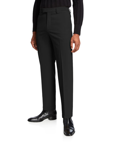 Men's Mohair-Blend Slim-Fit Dress Pants