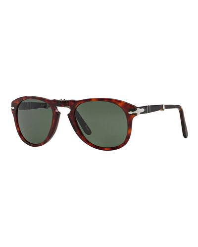 Men's Two-Tone Acetate Pilot Sunglasses