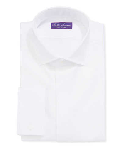 Men's Bond Basic Pleated Barrel-Cuff Dress Shirt