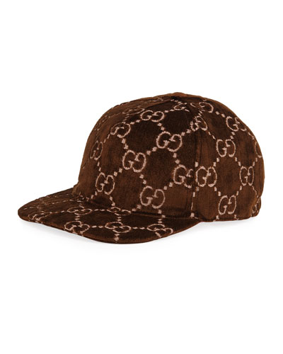 Men's Logo-Embroidered Velvet Baseball Hat