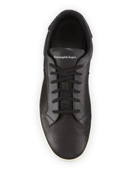 Men's Vulcanizzato Deerskin Leather Low-Top Sneakers