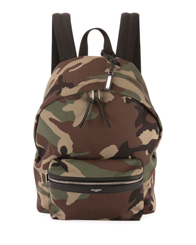 Men's City Camo Canvas Backpack