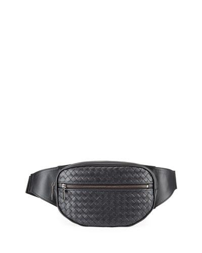 Men's Intrecciato Leather Belt Bag