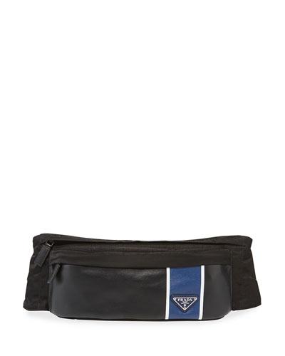 Men;s Tessuto Vitello Belt Bag