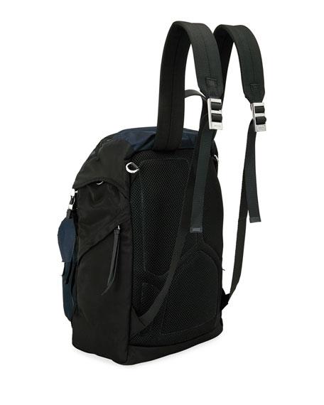 b2bac202f1720f Prada Men's Tessuto Camouflage Stripe Backpack