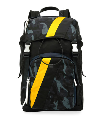 515bb1bb0b25d7 Men's Tessuto Camouflage Stripe Backpack Quick Look. Prada