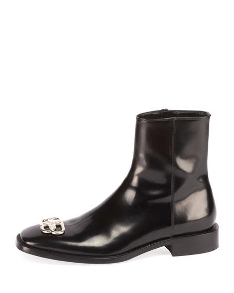 Men's Rim BB-Logo Leather Booties