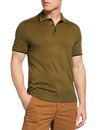 Men's Evens Silk-Blend Polo Shirt