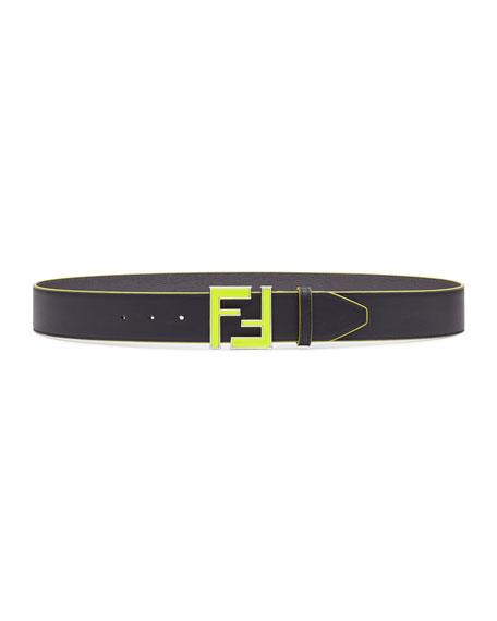 Men's Neon FF Calf Leather Belt