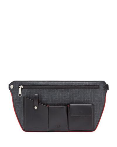 Men's FF Logo Four-Pocket Crossbody Bag