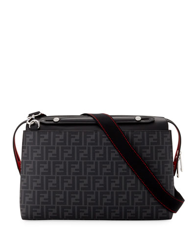Men's FF Logo Briefcase with Leather Trim