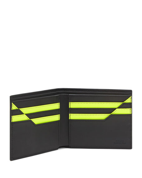 Men's Monster Two-Tone Geometric Wallet
