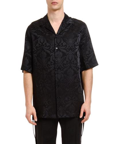 Men's Silk Jacquard Sport Shirt