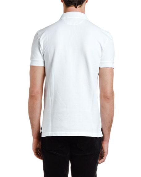Men's Pique-Knit Polo Shirt, White
