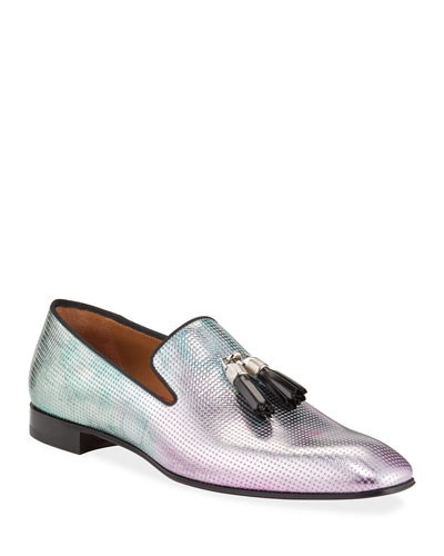Men's Rivalion Iridescent Red Sole Loafers