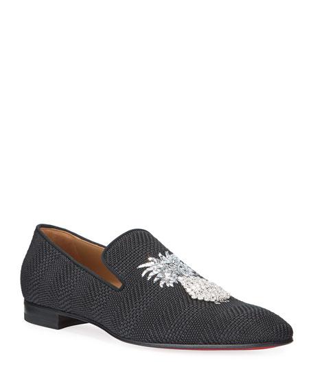 ad955078ec7 Christian Louboutin Men's Dandanas Pineapple Red Sole Loafers