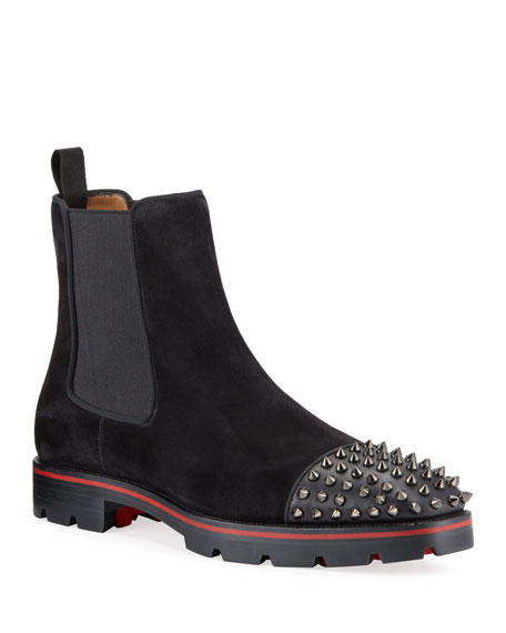 meet 4a068 e258b Men's Melon Spikes Red Sole Chelsea Boots