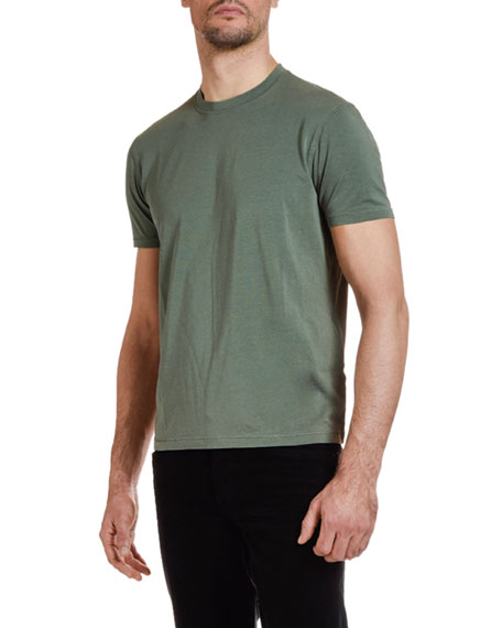 Men's Solid-Knit Crewneck T-Shirt, Green