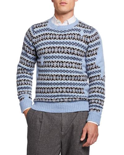 Men's Fair Isle Wool Sweater
