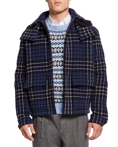 Men's x Gloverall Wool Melton Utility Jacket