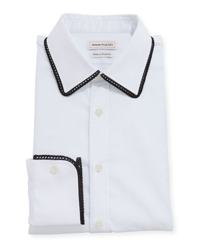 Men's Contrast-Trim Dress Shirt