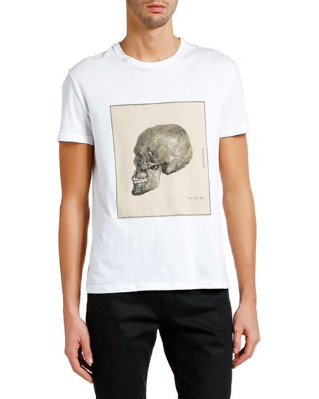 Men's Study Skull Short-Sleeve Graphic T-Shirt