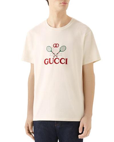 161d2d99 Men's Tennis Logo T-Shirt Quick Look. Gucci