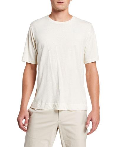 Men's Linen-Blend Basic T-Shirt