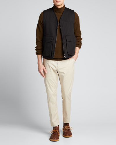 Men's Work Vest with Shearling Lining