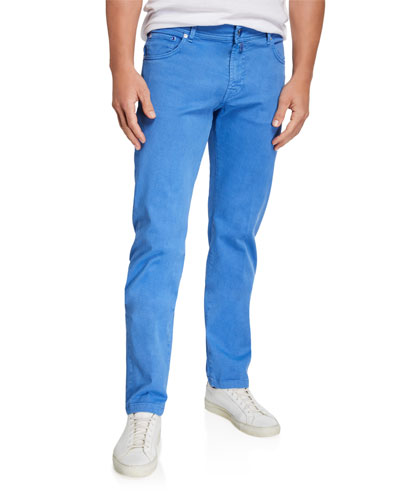 Men's Twill 5-Pocket Pants  Light Blue