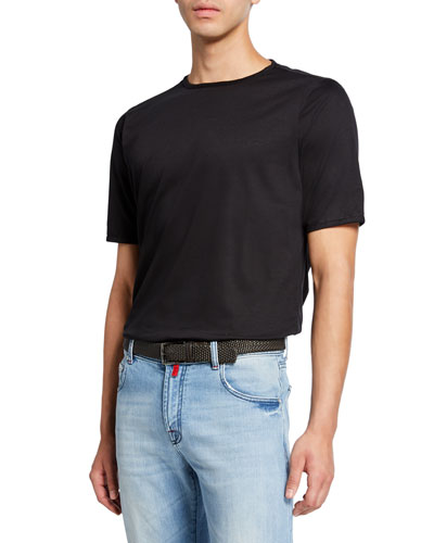 Men's Crewneck Short-Sleeve Cotton T-Shirt  Black