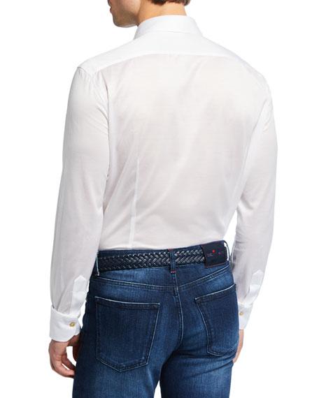 Men's Solid Jersey Long-Sleeve Sport Shirt