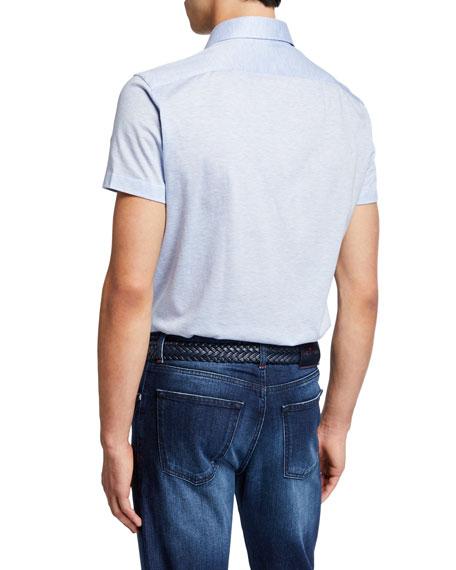 Men's Jersey Cotton Polo Shirt, Light Blue