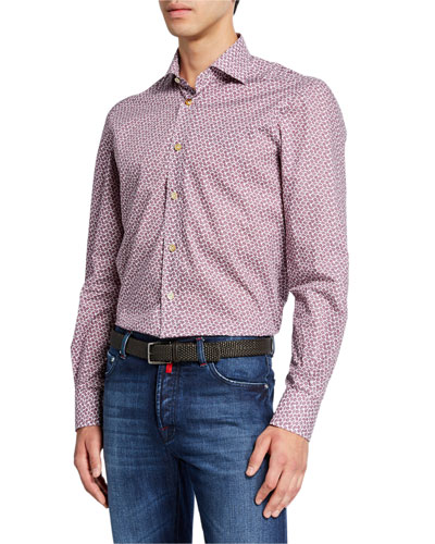 Men's Micro Floral Cotton Shirt