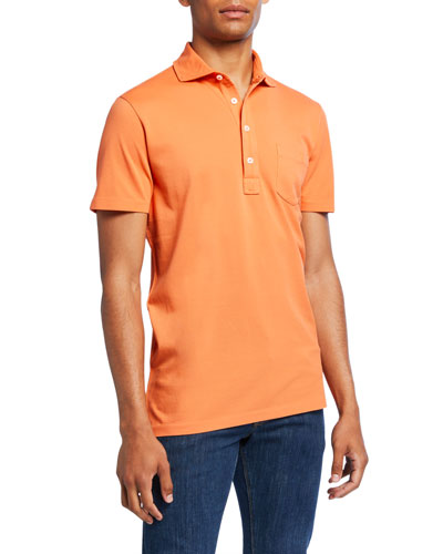 Men's Pocket Polo Shirt  Orange