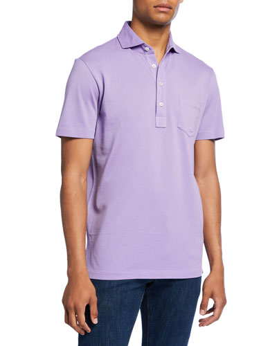 Men's Pocket Polo Shirt  Lavender
