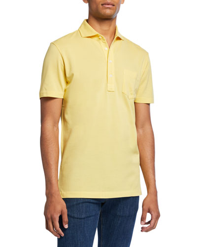 Men's Jersey Pocket Polo Shirt  Yellow