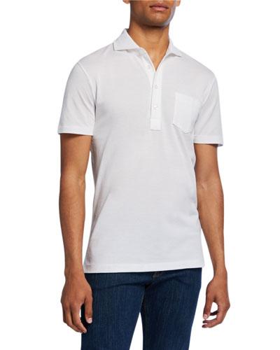 Men's Jersey Pocket Polo Shirt White